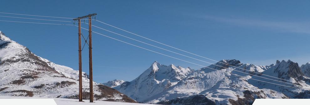 Ligne aérienne – 90% du réseau électrique sur Tignes est enterré